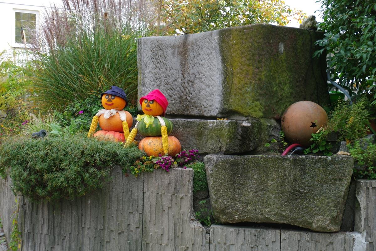 Ehepaar Kürbis grüßt von der Fränkischen Schweiz