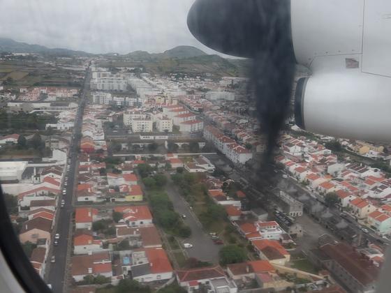 Anflug auf Ponta Delgada - São Miguel