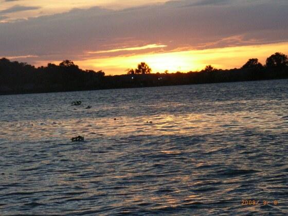 Sonnenuntergang im Orinoko-Delta