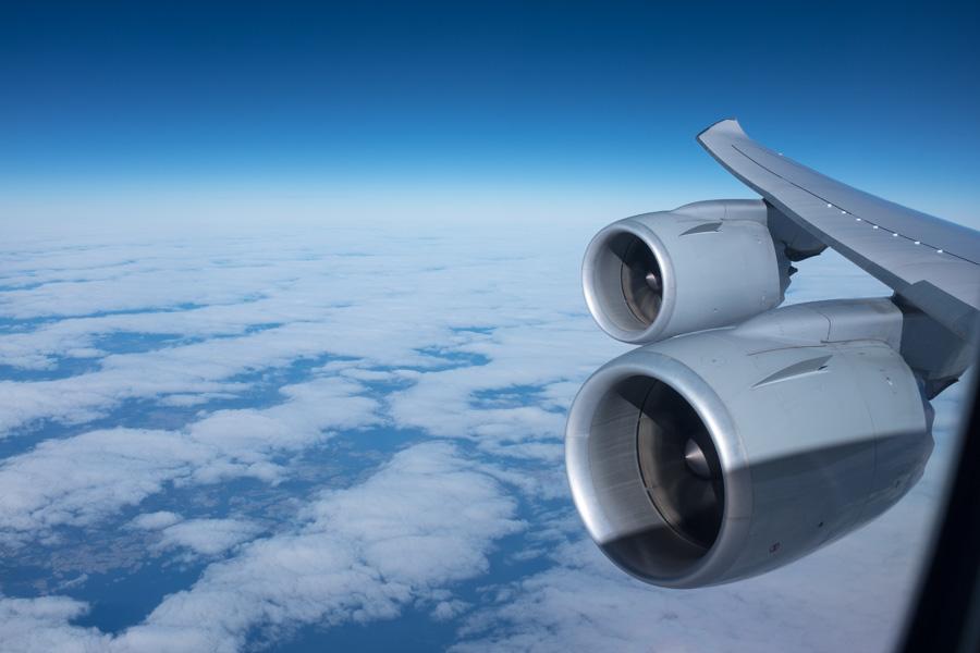 Über den Wolken - auf dem Weg nach Boston