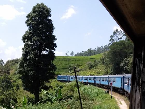 Zugfahrt in Sri Lanka