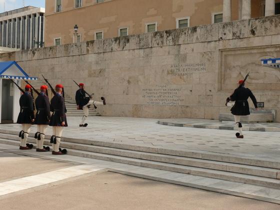 Wachablösung in Athen