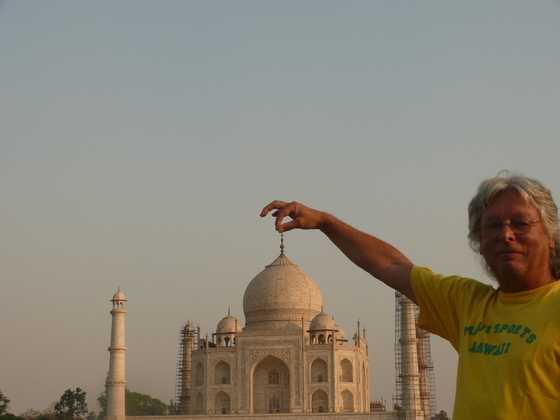 Taj Mahal fest im Griff